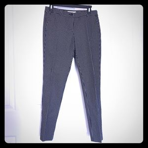 Michael Kors Black & White Checked Pants